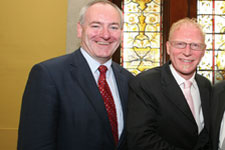 SDLP Leader Mark Durkan with Irish Channel America CEO Andy Ruane