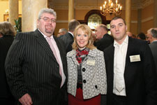 Colm Brady, Adele Cross of Delta Print & Packaging and Patrick Cross.