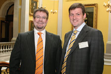 Council Board Member Mark Finlay, CEO of Barnabas Ventures with Michael Fitch of Fitch Chartered Accountants