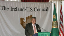 Dennis Swanson speaking at the Belfast Harbour Commisioners
