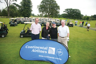 Continental Airlines were a great sponsor of the occasion: Brian Goggin, Yvonne Muldoon, Roddy Feely and Council member Mike Murphy.