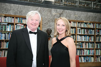 Ireland's greatest sculptor, John Behan with the Chief Executive of the Irish Arts Review, Sonya Perkins.