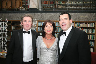 Council Board Member Tom Ryan on right, with guests Dr. Nicholas Walsh of The Blackrock Clinic and his wife Catherine.