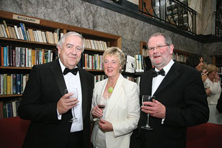 Council-member Dr. Michael Somers, his wife Dr. Deirdre Somers with John Corrigan