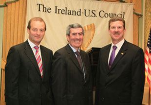 Brian Goggin and Padraig McManus, Chief Executive of the E.S.B. with Robert Faucher, Deputy Chief of Mission at The U.S. Embassy in Dublin.