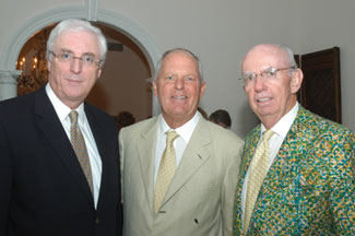 Ireland's Ambassador to the United States, His Excellency, Michael Collins with opening-night host Bill Finneran and President Mike Gibbons.