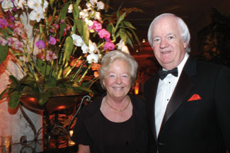 AnnMarie and Brian Stack at The Everglades Club dinner.