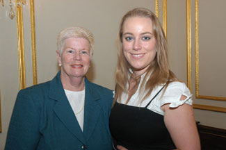 Mary Shelley, Director of Fordham University's Office of Prestigious Fellowships with Council Scholar Nathalie Ennis.