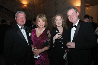 Michael McGouran, Kathleen Connor with Irish Repertory Theatre founders Charlotte Moore and Kieran O'Reilly.