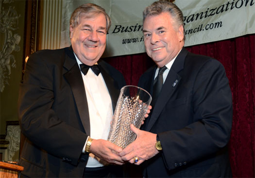 Dennis Swanson with Congressman Peter King (R-NY) the recipient of the Council's 2013 Lifetime Achievement Award.