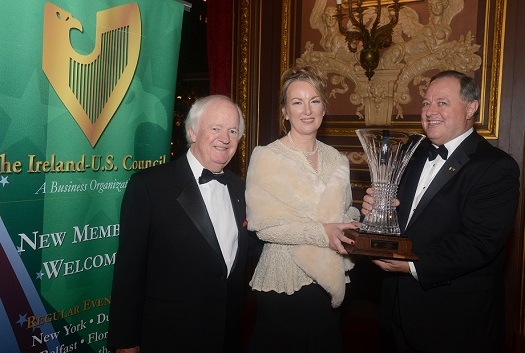 Award for Outstanding Achievement in 2015 awarded to Siobhán Talbot, Managing Director of Glanbia
