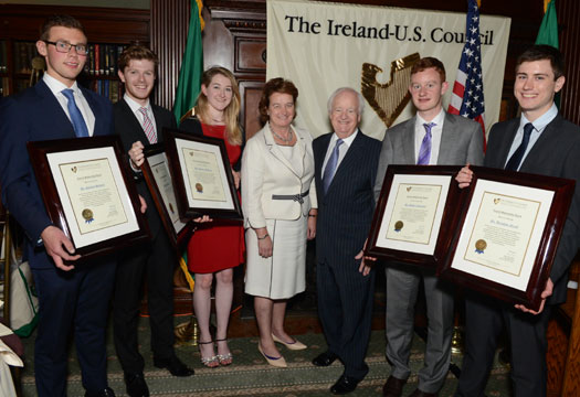Ireland-U.S. Council's Student Scholarships Awards New York June 11