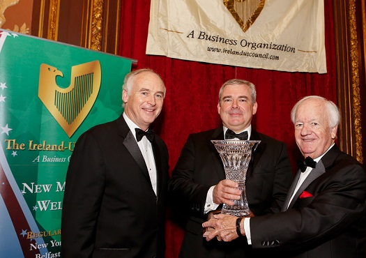The Ireland-U.S. Council presented its Award for Outstanding Achievement in 2017 to Bernard Byrne, Chief Executive of AIB Group