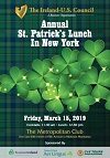 2019   Saint Patrick's Lunch in New York - Reserve Now