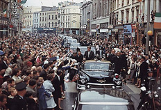 President John F. Kennedy visiting Ireland in 1963