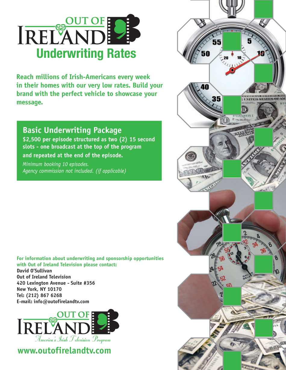 Out of Ireland has a broad TV network across the United States - Underwriting Rates